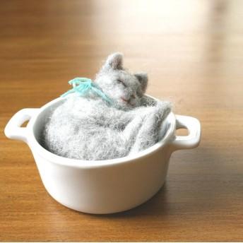 小なべ猫 ロシアンブルー★ご予約品