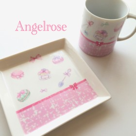 【再販】ラブリーマカロン マグカップ & お皿セット