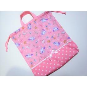 パステルユニコーンのお着換え袋☆ピンク☆