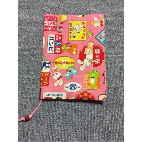 ブックカバー☆はいから横丁看板柄ピンク