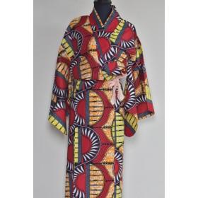 【アフリカ布】で浴衣を作りました。
