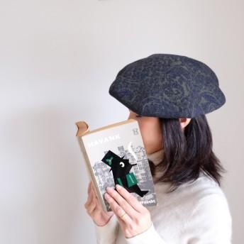 *販売終了*(残り1点)ベレー帽 - ペイズリー ウール - (オーダー用の上質生地)【特集掲載】