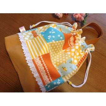 入園入学 ガーリーな花柄の体操服袋