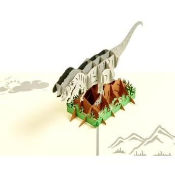 手作り切り紙ポップアップカード 恐竜