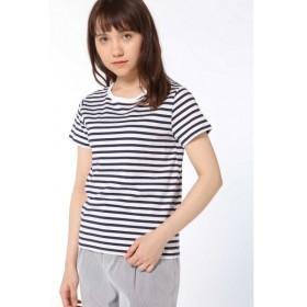 [マルイ]【セール】50/2新きょう綿 ボーダーTシャツ/ヒューマンウーマン(HUMAN WOMAN)