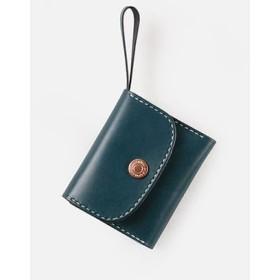 切線派】本革三つ折り財布 レディース 革 大容量 牛革手縫い収納財布 総手縫い