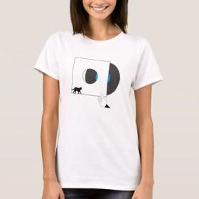 ネコとレコード イラスト Tシャツ