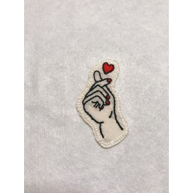 刺繍ワッペンシール heart