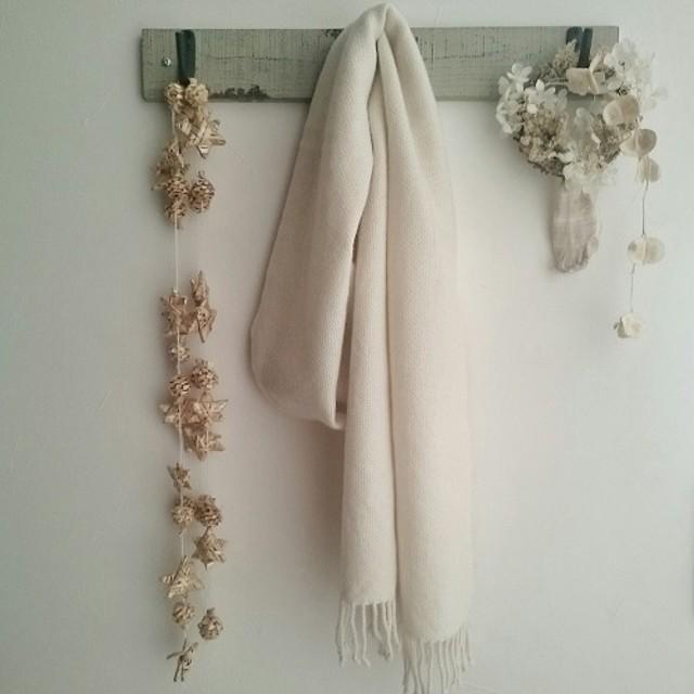 カシミヤの手織りマフラー