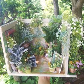 売約済 完売‼️ ガーデンお部屋 ミニチュア ドールハウス ガーデン ガーデニング カフェ