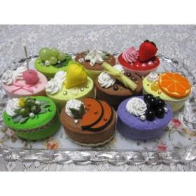 かわいいフェルトケーキ10個セット