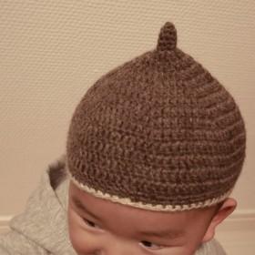 手編みのどんぐり帽子 ベビー