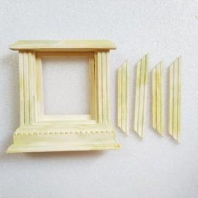 窓 ミニチュア ドールハウス 家具 部屋 カフェ 庭 ガーデニング アンティーク