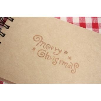 「merry christmas」ぐるぐる文字はんこ