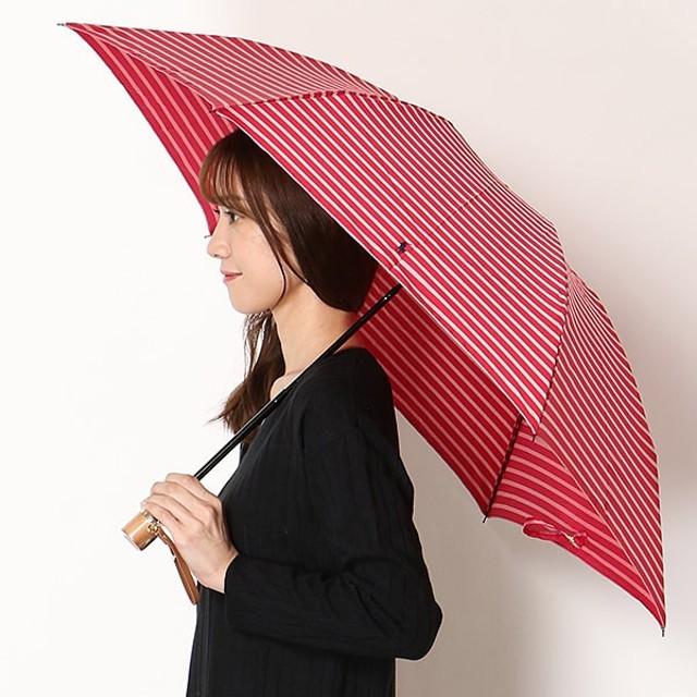 [マルイ]【セール】雨傘【折り畳み/三段/手開きタイプ/ボーダー/ミニ】Pツイル先染め ボーダー(レディース/婦人)/ポロ ラルフローレン(傘)POLO RALPH LAUREN(umbrella)