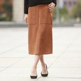[マルイ]【セール】【WEB別注】ベーシックカラートップスに最適なカラーフェイクスエードスカート/ロートレアモン(LAUTREAMONT)