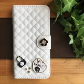 スマホケース☆iPhone7 大人可愛い人気の白☆手帳型 おしゃれなiPhoneケース/スマホケース/iPhoneカバー