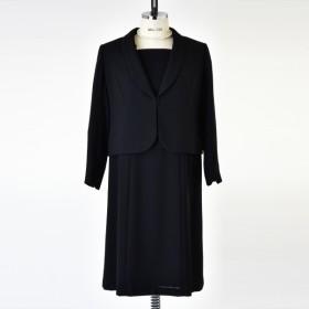 [マルイ] 【ブラックフォーマル】ゆったりショールカラージャケットアンサンブル/喪服/レディース/礼服/ソリテール(SORITEAL)