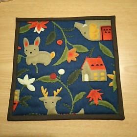鍋敷きもオシャレに 手縫いのテーブルマット
