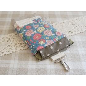 バネポーチ携帯iPhoneケースYUWA/ブルーグリーン