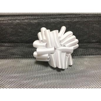 モコモコリボン 真っ白なドーム ヘアゴム