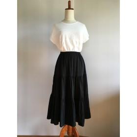 (受注制作)5色から選べるWガーゼティアードスカート