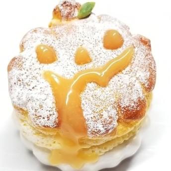 《 ハロウィン セール 》おばけかぼちゃのスフレチーズケーキ《 かぼちゃミルク 》(ミニチュアスイーツ)