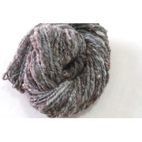 手つむぎ毛糸 ハンドスパン ミックスウール 手紡ぎ糸 39g #3055