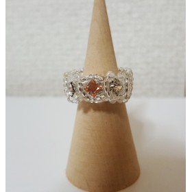 スワロフスキー・Ltピーチ・ミラーパーツ・Ring