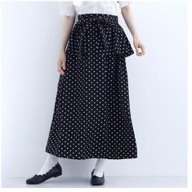 [マルイ] ドット柄ぺプラムベルトスカート7660/メルロー(merlot)