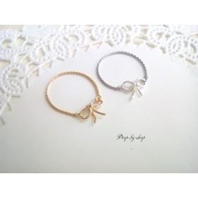 リボン チェーンリング~small ribbon~