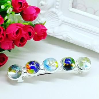 海の宝石 ★ 琉球ガラス ★ バレッタ