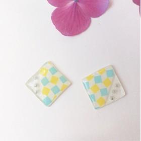 水色×黄色ピアス