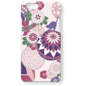 《和》毬で遊ぶ猫*Pink スマホケース 和柄 iPhoneケース iPhoneXS iPhoneXR iPhoneXSMax Xperia Galaxy 他機種対応