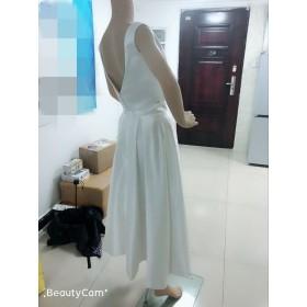 ウエディングドレス スレンダータイプ サテン ツーピース セパレートドレス 結婚式 花嫁