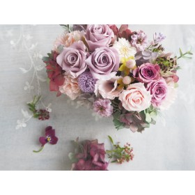 Grayish purple arrangement*グレイッシュパープル アンティークアレンジメント*ギフト*プリザーブドフラワー*花