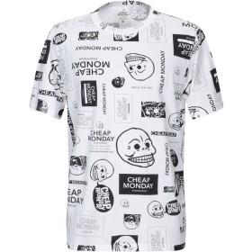 《送料無料》CHEAP MONDAY メンズ T シャツ ホワイト XS コットン 100%