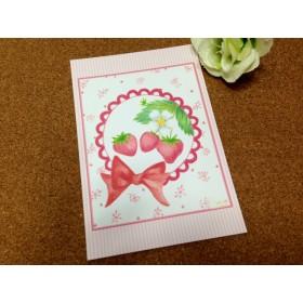 011 花の小窓ポストカード イチゴ