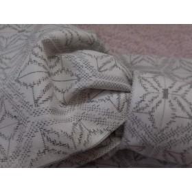 麻の葉模様の半幅帯・浴衣帯・白紬風