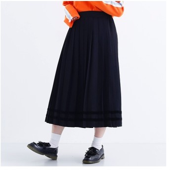 [マルイ]【セール】ベロアラインプリーツスカート7936/メルロー(merlot)