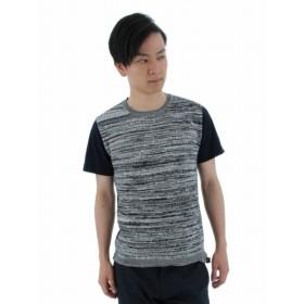 [マルイ]【セール】前身メランジ格子編みクルーネックTシャツ/タカキュー(TAKA-Q)