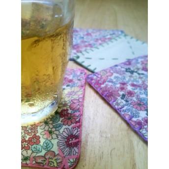 手縫いコースター四角型4枚セット