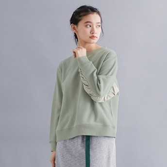 [マルイ]【セール】【IKYU】異素材ドレープスリーブスウェットトップス/メルローイキュー(merlotIKYU)