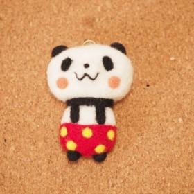 柄パンダ 赤×黄ドット