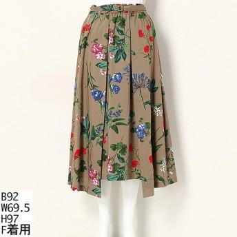 [マルイ]【セール】【大きいサイズ】花柄ミディ丈スカート/ラクープ(LACOUPE)
