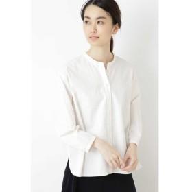 HUMAN WOMAN / ◆ブロードストライプスタンドカラーシャツ