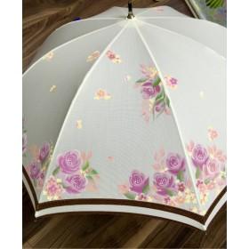 晴雨兼用傘 花降るピンクローズ