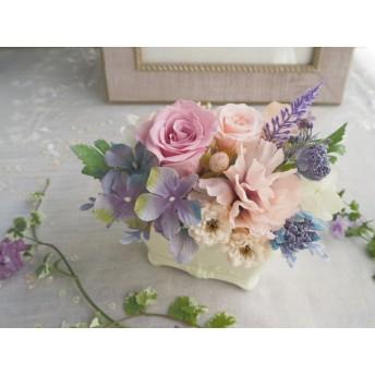 受注制作 French chic arrangement<Ciel pink*空色とピンク*母の日ギフト*アレンジメント*プリザーブドフラワー*お花*ギフト*母の日のおくりもの特集