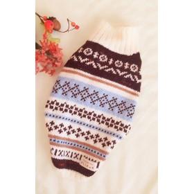 犬の模様編みセーター*ブルーversion*Msize