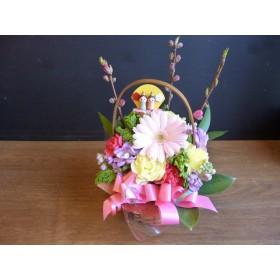 【桃の節句 生花】ライトピンクガーベラのフラワーアレンジ